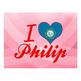 Amo a Philip Dakota del Sur Tarjetas Postales