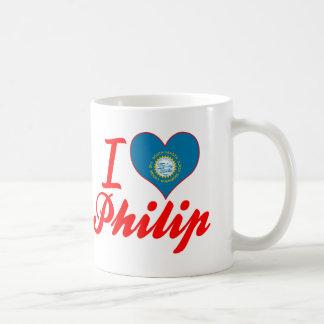 Amo a Philip Dakota del Sur Taza