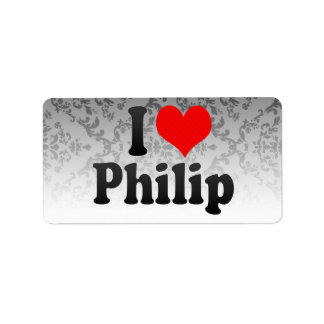 Amo a Philip Etiqueta De Dirección