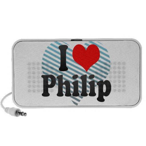 Amo a Philip Portátil Altavoces