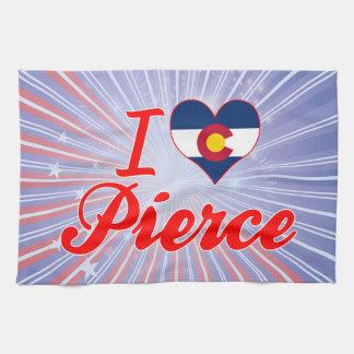Amo a Pierce, Colorado Toallas De Mano