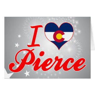Amo a Pierce, Colorado Tarjetón