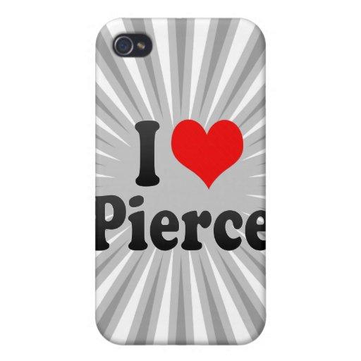Amo a Pierce iPhone 4 Fundas