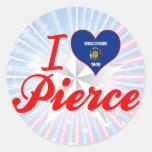 Amo a Pierce, Wisconsin Etiqueta Redonda