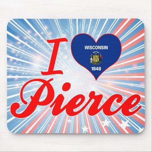 Amo a Pierce, Wisconsin Tapete De Ratón