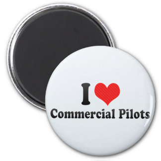 Amo a pilotos comerciales imanes de nevera