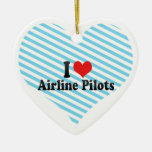Amo a pilotos de la línea aérea ornamento para reyes magos
