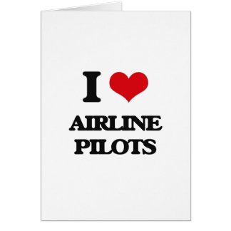 Amo a pilotos de la línea aérea felicitacion