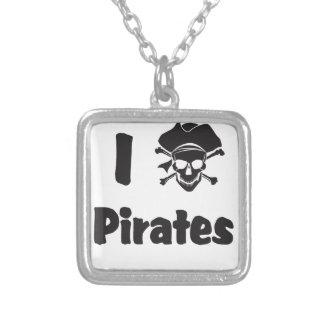 Amo a piratas collar personalizado