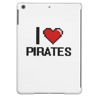 Amo a piratas funda para iPad air