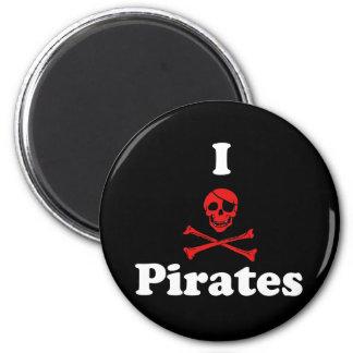 Amo a piratas iman de nevera
