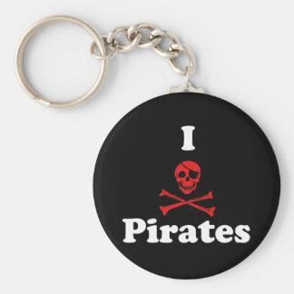 Amo a piratas llavero personalizado