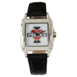 Amo a Piscis Relojes De Pulsera