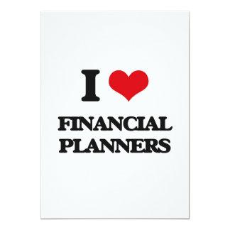 Amo a planificadores financieros invitación 12,7 x 17,8 cm