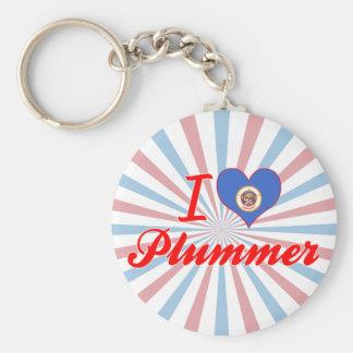 Amo a Plummer, Minnesota Llaveros Personalizados