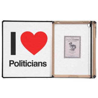amo a políticos iPad funda