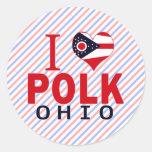 Amo a Polk, Ohio Etiquetas