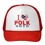 Amo a Polk, Ohio Gorras De Camionero