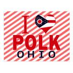 Amo a Polk, Ohio Tarjeta Postal