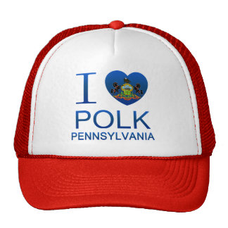 Amo a Polk, PA Gorro De Camionero