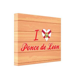 Amo a Ponce de León la Florida Impresiones En Lienzo Estiradas