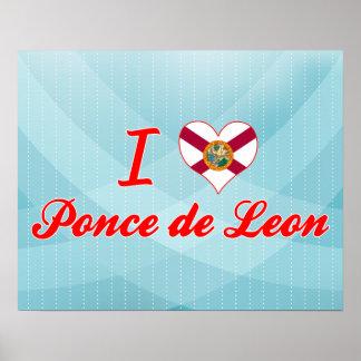 Amo a Ponce de León la Florida Posters