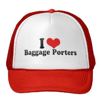 Amo a porteros del equipaje gorra