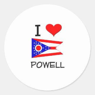 Amo a Powell Ohio Etiqueta Redonda