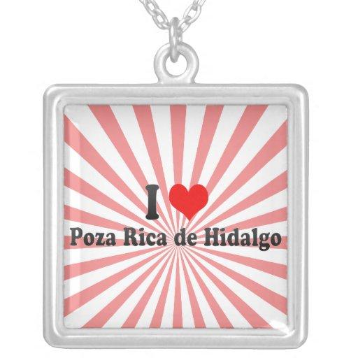 Amo a Poza Rica de Hidalgo, México Colgante Cuadrado