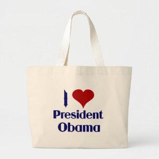 Amo a presidente Obama Bolsa Tela Grande