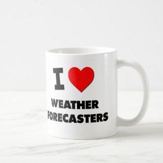 Amo a previsionistas de tiempo tazas