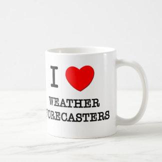 Amo a previsionistas de tiempo taza de café