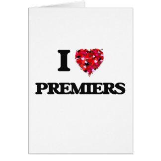 Amo a primeros ministros tarjeta de felicitación