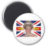 Amo a princesa Diana Iman De Frigorífico