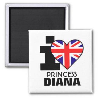 Amo a princesa Diana Magnet Imán Cuadrado