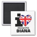 Amo a princesa Diana Magnet Imanes De Nevera