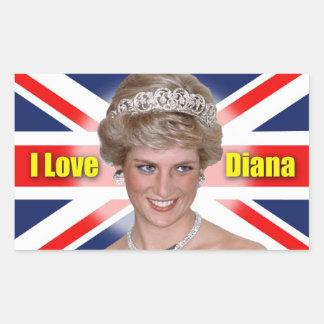 Amo a princesa Diana Etiquetas