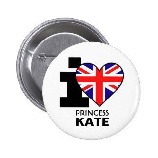 Amo a princesa Kate Button Pin Redondo 5 Cm