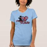 Amo a princesa Kate Camisetas