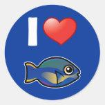 Amo a princesa Parrotfish Etiqueta