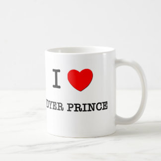 Amo a príncipe Massachusetts el tintóreo Taza Básica Blanca