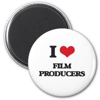 Amo a productores cinematográficos imanes de nevera