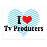 Amo a productores de TV Tarjetas Postales