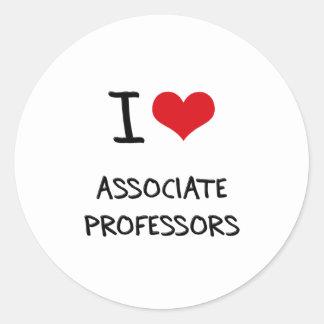 Amo a profesores adjuntos pegatinas redondas