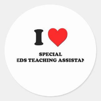 Amo a profesores ayudante especiales de las necesi etiquetas
