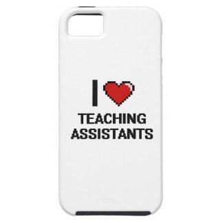 Amo a profesores ayudante iPhone 5 carcasas