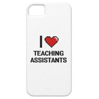 Amo a profesores ayudante iPhone 5 fundas