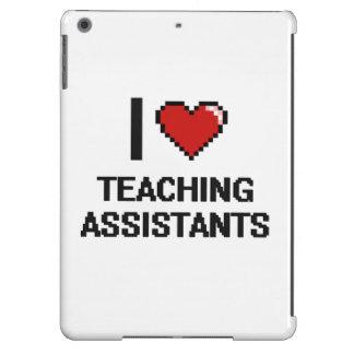 Amo a profesores ayudante funda para iPad air