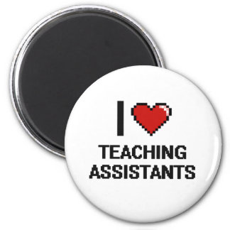 Amo a profesores ayudante imán redondo 5 cm