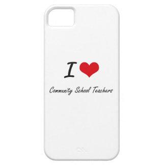 Amo a profesores de escuela de la comunidad iPhone 5 carcasa